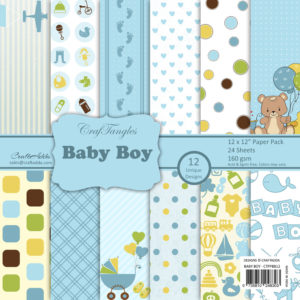 craftangles baby boy 12x12 paper pack