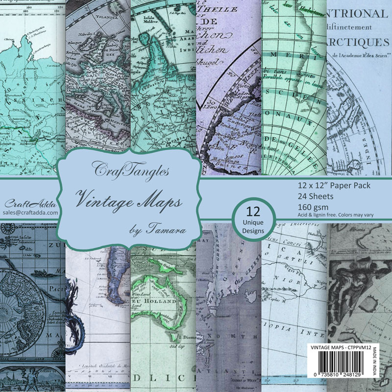 Craftangles scrapbook paper pack vintage maps 12x12 craftangles scrapbook paper pack vintage maps gumiabroncs Image collections